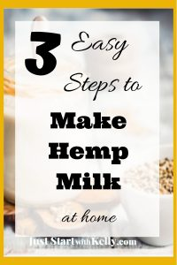 jar of hemp milk with seeds