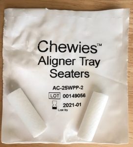 Chewies aligner tray seaters